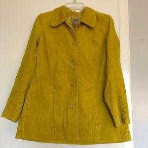 J. JILL Jacket Womens Xs oversized Chartreuse barn
